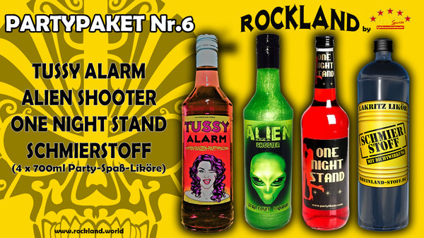 P-P Nr.6 ALIEN, TUSSY ALARM, ONE NIGHT STAND, SCHMIERSTOFF 4 x 700ml