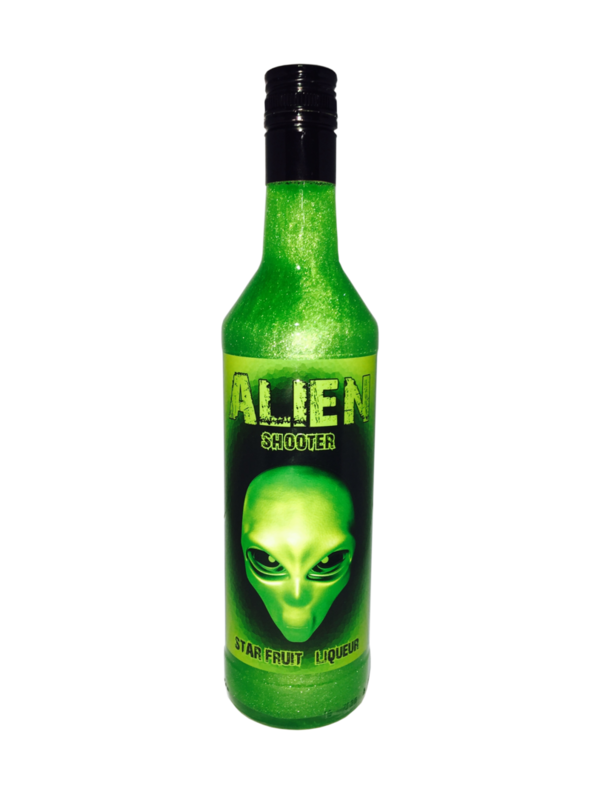 ALIEN SHOOTER Starfruit liqueur / Glitzer-Likör 15% Vol. 700ml