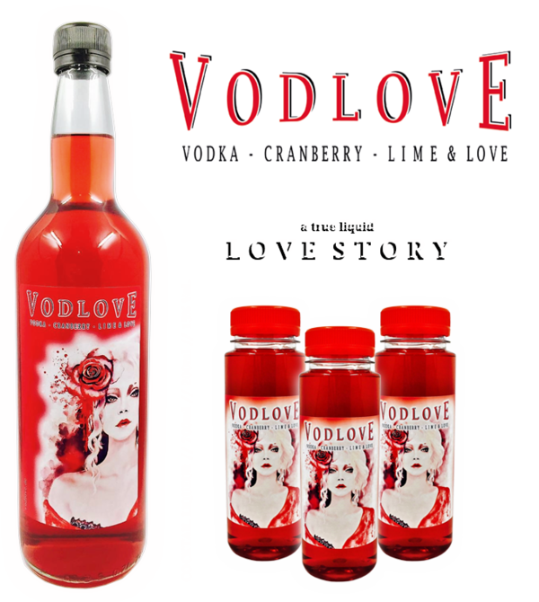 VODLOVE vodka & cranberry & lime cocktail partylikör 3 x 200ml u. 1 x 700ml 15% Vol.