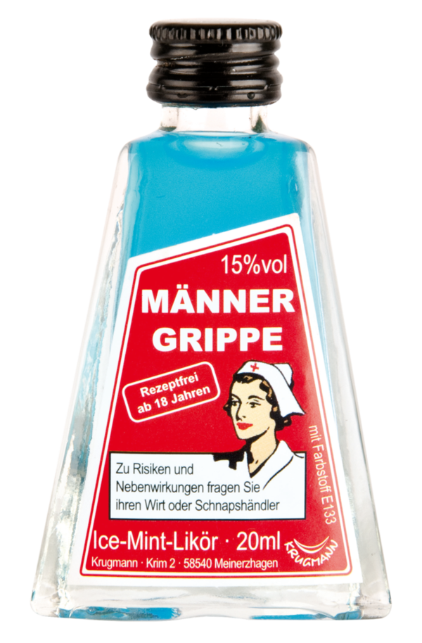 MÄNNERGRIPPE Ice-Mint-Likör-Minis 20 x 20ml 15% Vol.