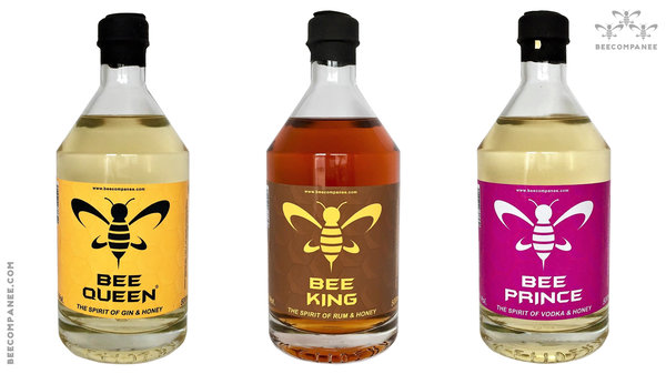 THE THREE BEES / BEE QUEEN, BEE KING & BEE PRINCE 3 x 500ml je 33% Vol.