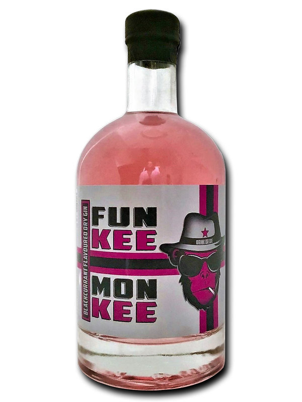 FUNKEE MONKEE Blackcurrant flavoured Dry Gin 44,4% 500ml